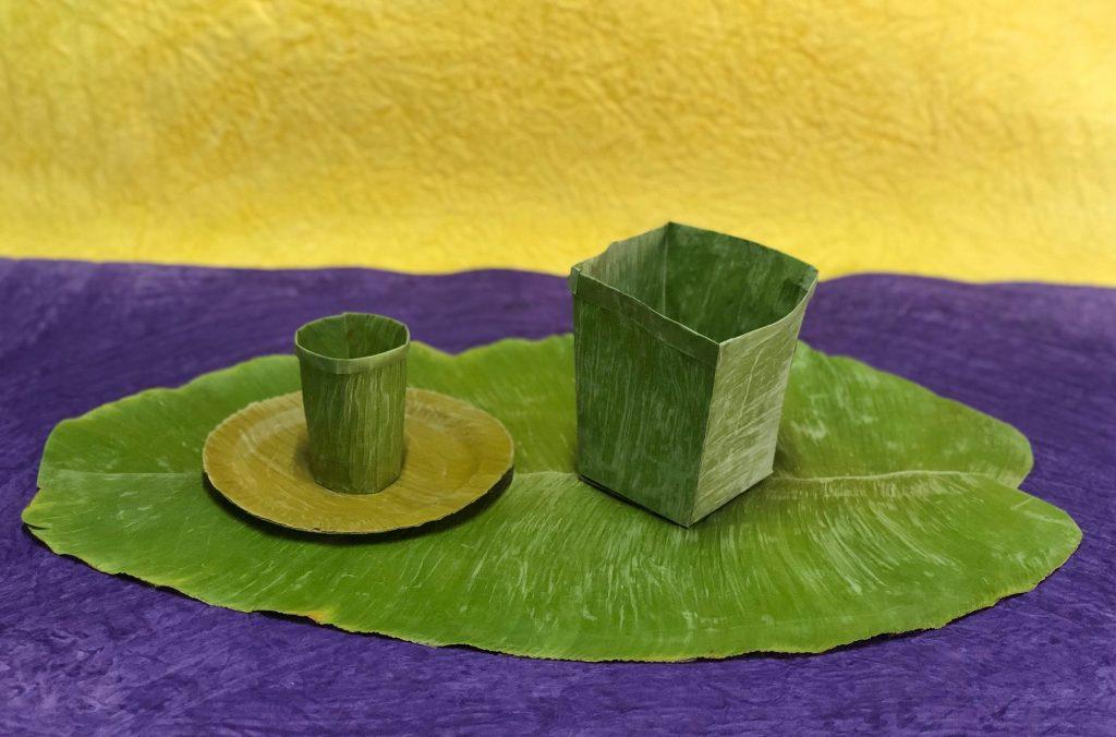 用香蕉叶代替塑料和纸的新技术